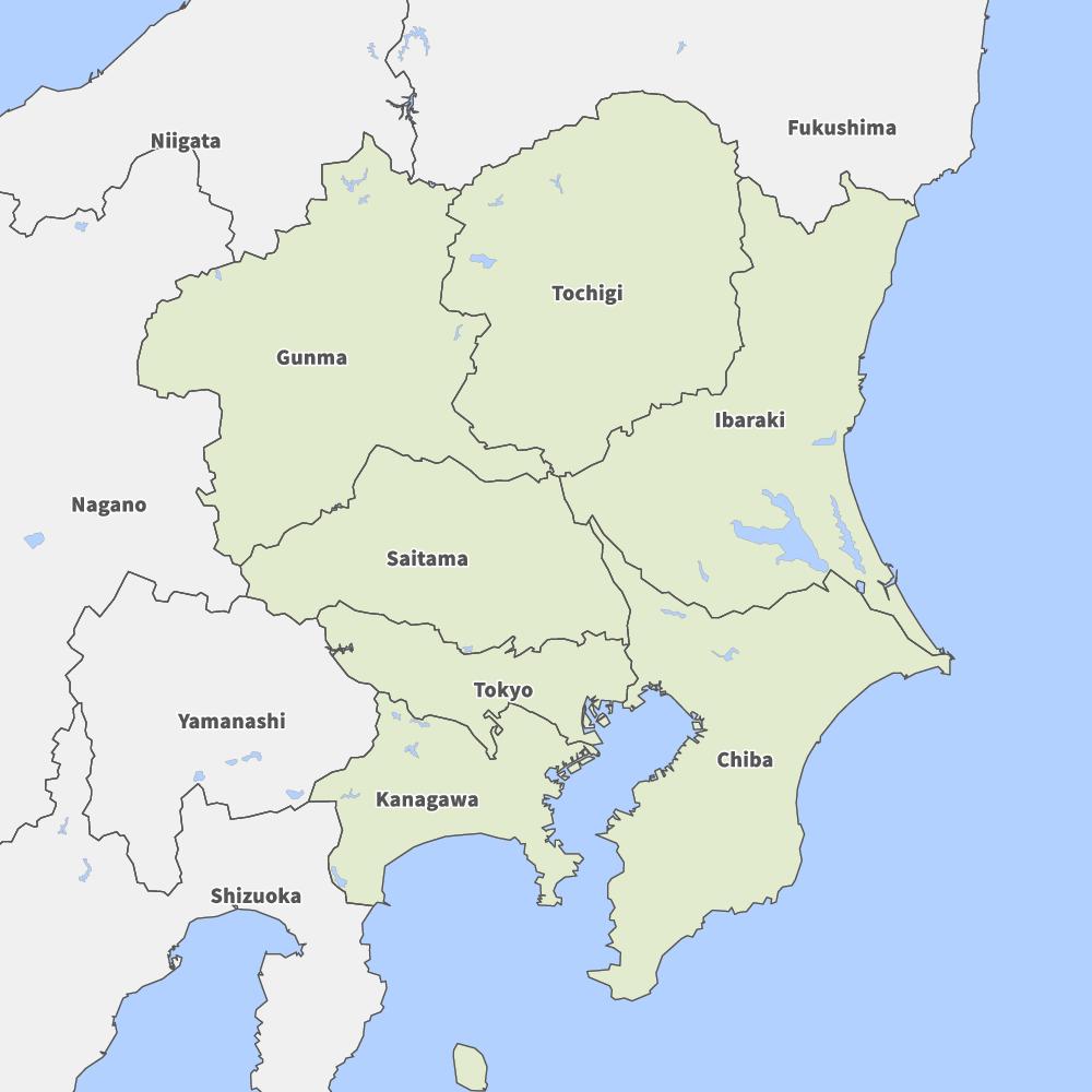 Map of Kanto region | Map-It
